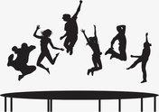 Соревнования по прыжкам на батуте