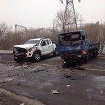 Пикап и грузовик столкнулись лоб в лоб в Уссурийске