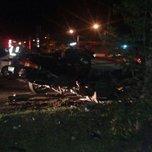 В Уссурийске пьяный водитель погиб врезавшись в столб