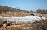 На месте строительства моста около села Кроуновка в ближайшее время начнутся буровые работы