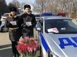 Праздничную акцию провели сотрудники полиции и кадеты Суворовского училища в Уссурийске