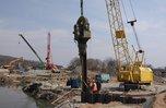 Начинается бетонирование моста к селу Кроуновка