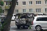 В Уссурийске около жилого дома дотла сгорел автомобиль
