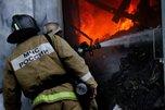 В Уссурийске огнеборцы потушили металлический контейнер