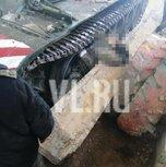 В Сергеевке на офицера упала бетонная плита
