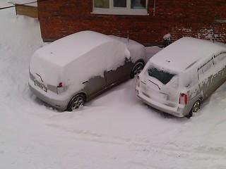 Снегопад накрыл Уссурийск