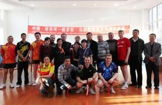 Товарищеская встреча по настольному теннису прошла между российскими и китайскими спортсменами