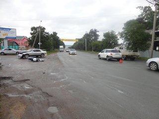 Мотоциклист серьезно пострадал в аварии в Уссурийске