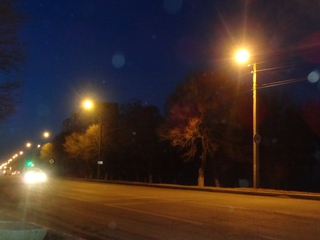 Лампы уличного освещения в Уссурийске ярче светят ночью и экономят электроэнергию вечером