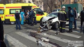 Страшная авария в центре Уссурийска обошлась без жертв