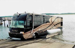 Роскошный автобус-амфибия