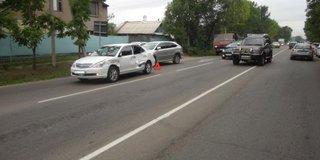 В Уссурийске таксист спровоцировал тройное ДТП