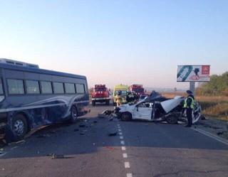 Иномарка врезалась в пассажирский автобус под Уссурийском