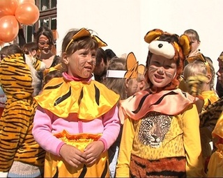 В празднования Дня тигра участвовали 700 школьников