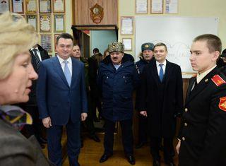 Губернатор ознакомился с работой Суворовского училища в Уссурийске