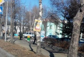 Полиция проводит проверку по факту размещения рекламного баннера в Уссурийске
