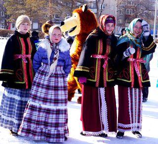 Уссурийцы отмечают новогодние праздники