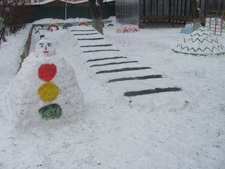 Воспитанники уссурийского детсада стали победителями конкурса снежных фигур