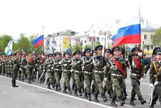 Юбилейный парад Победы состоялся в Уссурийске