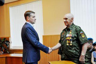 В администрации УГО чествовали кавалера 3-х орденов Красной Звезды