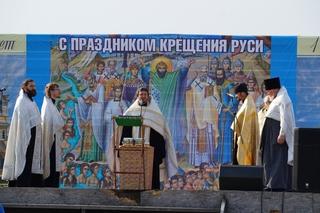 Жители Уссурийска массово приняли крещение на Кугуковском водохранилище