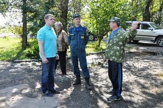 Глава администрации УГО побывал в селах, наиболее пострадавших от паводка