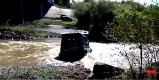 УАЗ с водителем утонул в реке Комаровка в Приморье