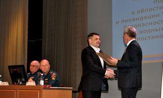 Награды МЧС России удостоен глава администрации УГО Евгений Корж