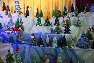 Традиционная выставка новогодних ёлок проходит в Уссурийске
