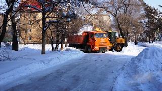 Информация по расчистке тротуаров в Уссурийске на 25 января