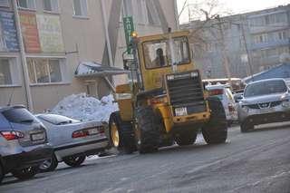 Сегодня в работах по расчистке Уссурийска от снега задействовали 39 единиц техники
