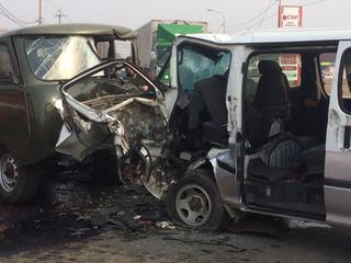 Страшное столкновение 2-х микроавтобусов сегодня произошло в Уссурийске