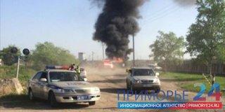 Страшный пожар полыхал в Уссурийске