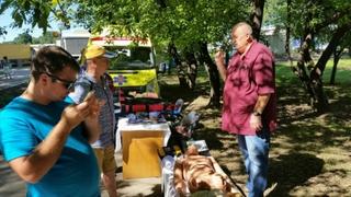 Жители города Уссурийска увидели выставку МЧС под открытым небом