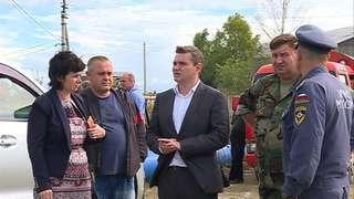 Глава администрации Евгений Корж проинспектировал работы по откачке воды в Уссурийске