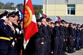 В Уссурийске 50-ю годовщину отметили моторизированные воинские части Внутренних войск МВД России