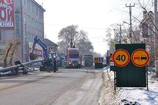 Работы по укладке газопровода идут на улице Ленина в Уссурийске
