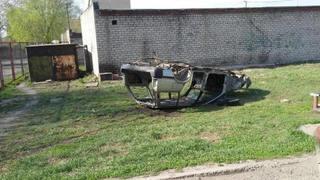Житель Уссурийска возил по городу искорёженный остов машины
