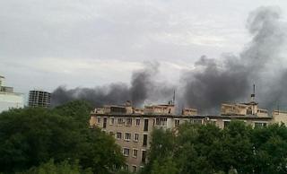 Пожар на стройке произошел в Уссурийске