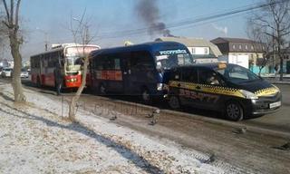 Курьезное ДТП произошло возле китайского рынка в Уссурийске