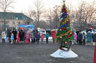 В Уссурийске в парке имени Чумака прошла праздничная игровая программа «Новогодний переполох»