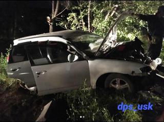 Пьяная женщина за рулём угробила иномарку в Уссурийске