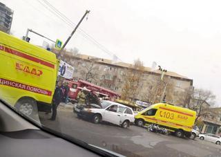 Мотоцикл влетел в автомобиль в Уссурийске