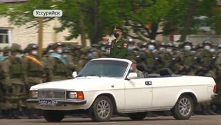В Уссурийске прошла последняя тренировка Парада Победы