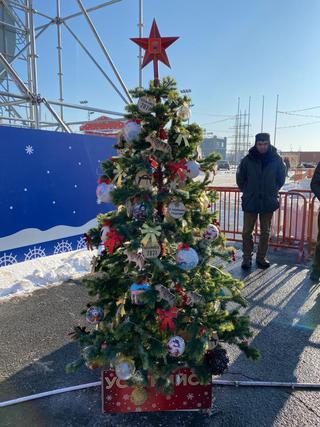 Уссурийские мастера украсили новогоднюю ель на «Аллее муниципалитетов» во Владивостоке