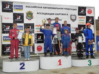 Уссурийские картингисты привезли из Владивостока 4 медали